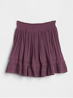 Smocked Embroidery Skirt