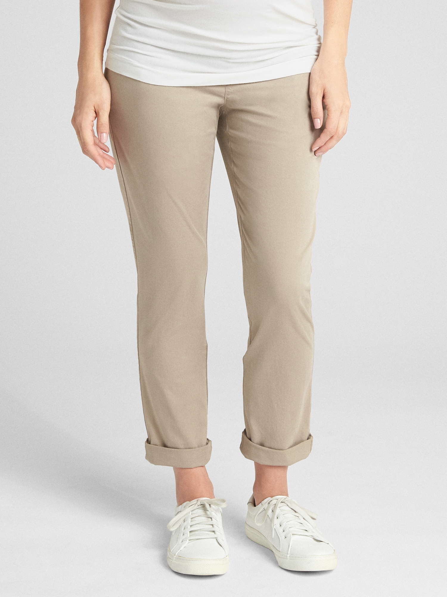 Gap Maternity Demi Panel Girlfriend Chino Pants