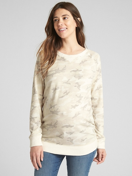 Maternity Softspun Pullover Sweatshirt by Gap