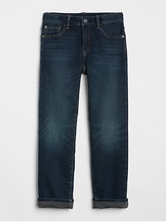 Superdenim Jersey-Lined Straight Jeans with Defendo