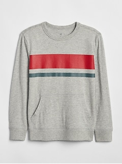 Chest-Stripe Sweatshirt
