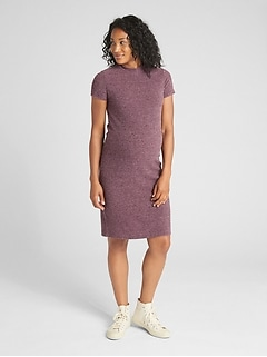 Maternity Ribbed Softspun Mockneck Dress