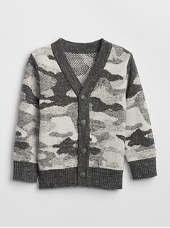 Camo Cardigan Sweater