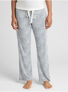 Maternity print modal sleep pants