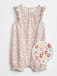 Floral Flutter Shorty One-Piece