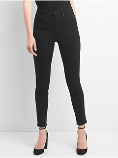 High Rise True Skinny Jeans in EverBlack