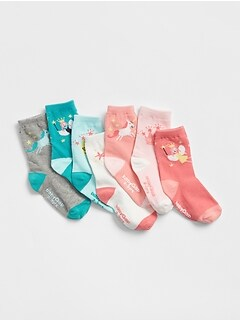 Fairytale Days-of-the-Week Crew Socks (7-Pack)