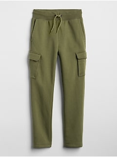 Pull-On Cargo Pants in Fleece