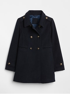 Wool Double-Button Peacoat