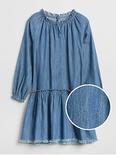 Denim Drop-Waist Dress