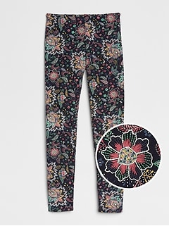 Print Leggings in Soft Terry