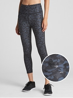 GFast High Rise Camo Print 7/8 Leggings in Blackout