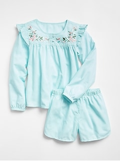 Big Dreams Ruffle Short PJ Set