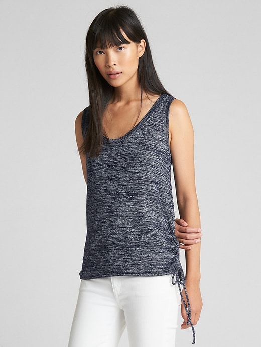 Softspun Lace Up Tank Top by Gap