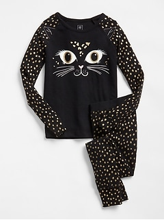 Glitter Cat PJ Set