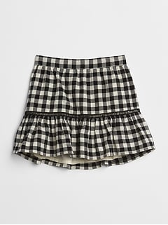 Plaid Flippy Skirt