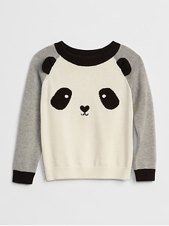 Panda Raglan Sweater
