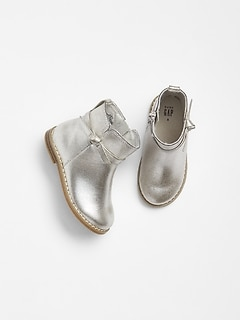 Toddler Metallic Bow Boots