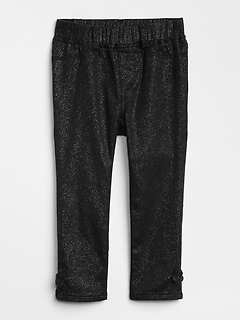 Superdenim Glitter Bow Jeggings with Fantastiflex