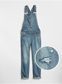 Kids Distressed Overalls
