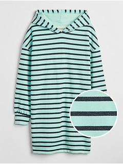 Stripe Hoodie Dress