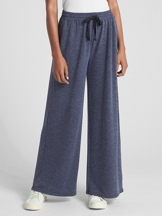 Wide-Leg Drawstring Pants
