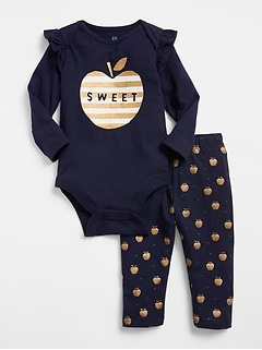 Apple Bodysuit Set