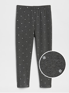 Gitter Dot Leggings in Soft Terry