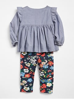 Chambray Floral Set