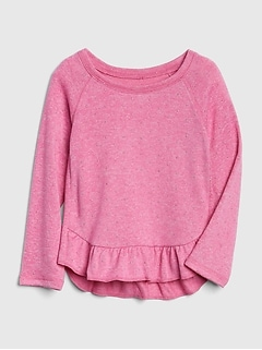 Peplum Long Sleeve T-Shirt