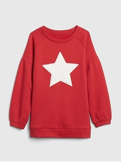 Star Puff-Sleeve Sweatshirt