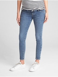 Maternity Inset Panel Favorite Ankle Jeggings