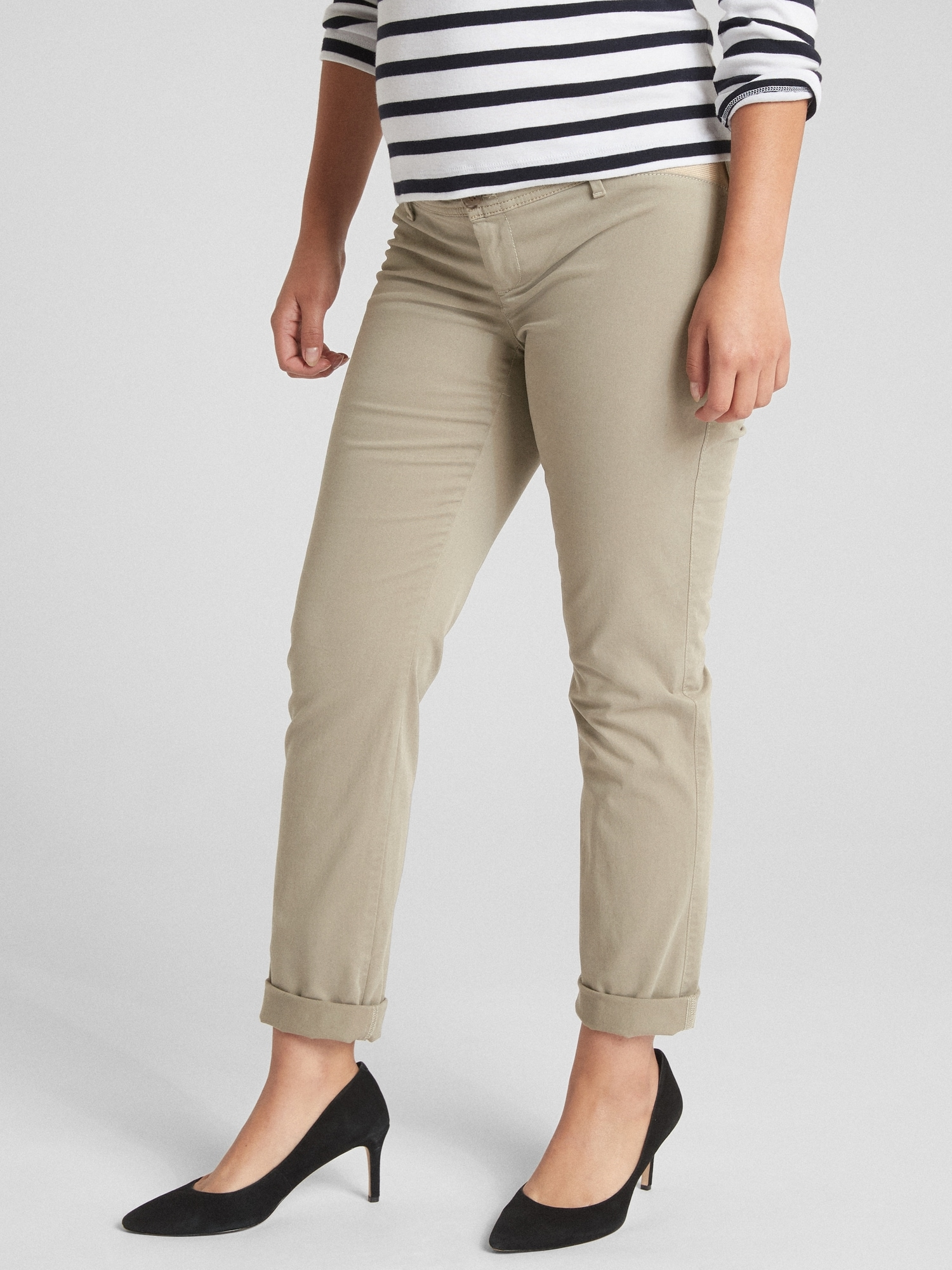Gap Maternity Inset Panel Girlfriend Chino Pants