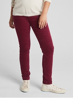 Maternity Full Panel True Skinny Cords