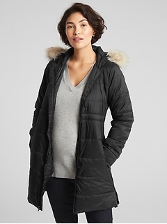 Maternity Longline Hooded Puffer Jacket