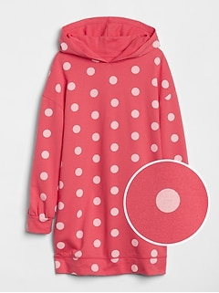 Dot Hoodie Dress