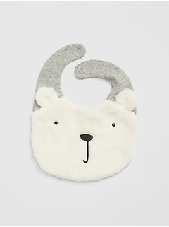 First Favorite Polar Bear Sherpa Bib