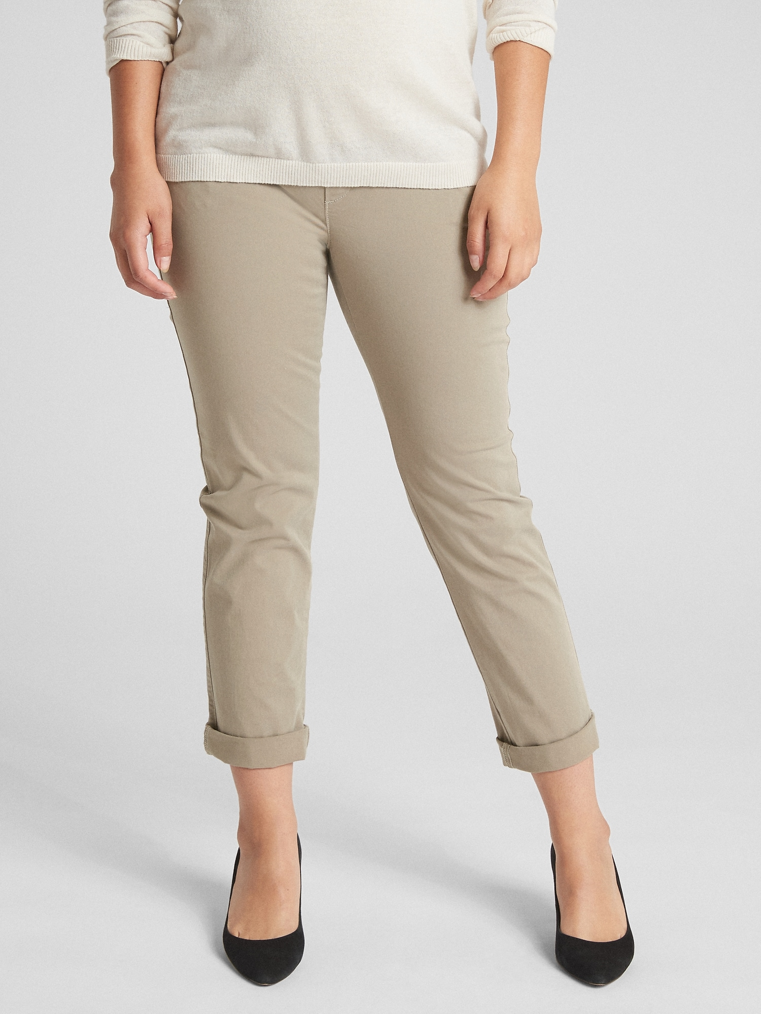 Gap Maternity Full Panel Girlfriend Chino Pants