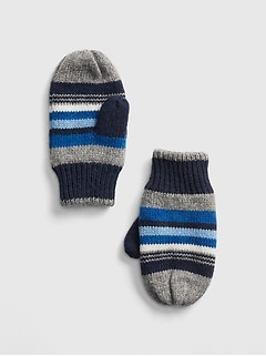 Crazy Stripe Mittens