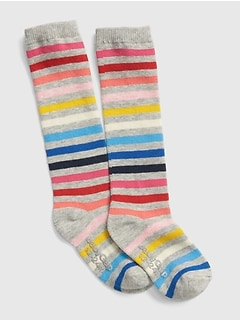 Crazy Stripe Knee-High Socks