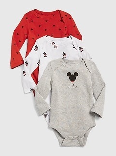 babyGap &#124 Disney Mickey Mouse Bodysuit (3-Pack)