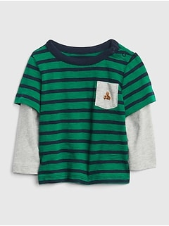 2-in-1 Stripe T-Shirt