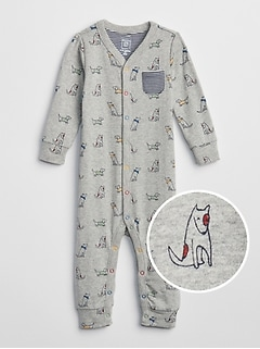 Dog Print One-Piece