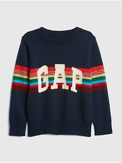 Crazy Stripe Logo Sweater