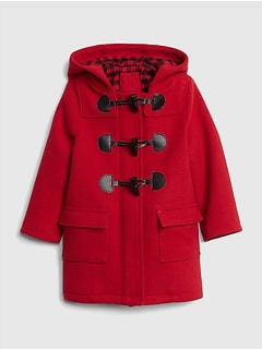 Flannel-Lined Duffle Coat