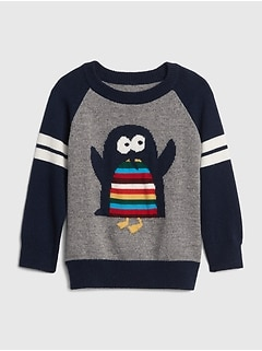 Penguin Graphic Raglan Sweater