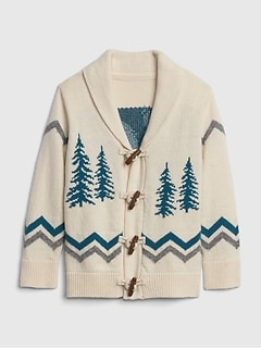 Yeti Shawl-Collar Cardigan Sweater