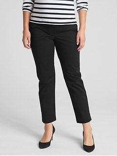 Maternity Full Panel Slim City Crop Chinos