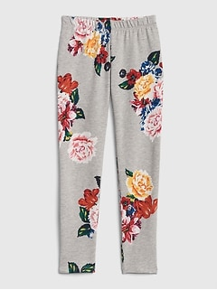 Floral Leggings in Soft Terry