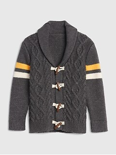 Toggle Shawl-Collar Cardigan Sweater